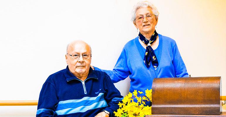 Das Seniorenheim Rhönblick ehrt Herrn Arnold – seinen allerersten Bewohner.